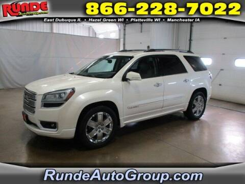 2013 GMC Acadia for sale at Runde PreDriven in Hazel Green WI