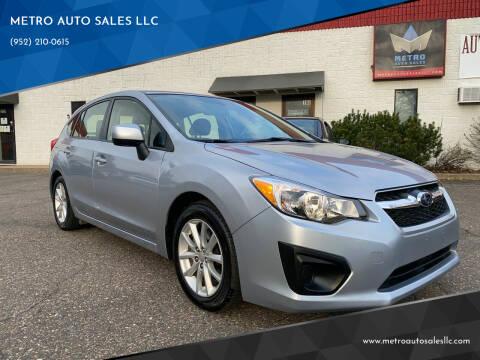 2014 Subaru Impreza for sale at METRO AUTO SALES LLC in Blaine MN