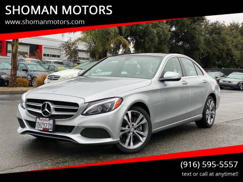 2015 Mercedes-Benz C-Class for sale at SHOMAN AUTO GROUP in Davis CA