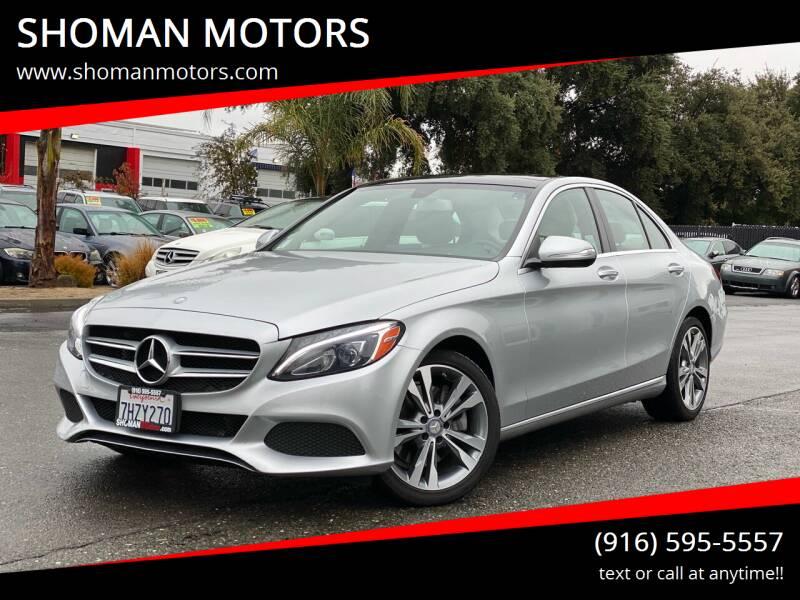 2015 Mercedes-Benz C-Class for sale at SHOMAN MOTORS in Davis CA