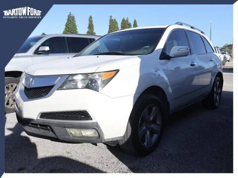 2012 Acura MDX for sale at BARTOW FORD CO. in Bartow FL