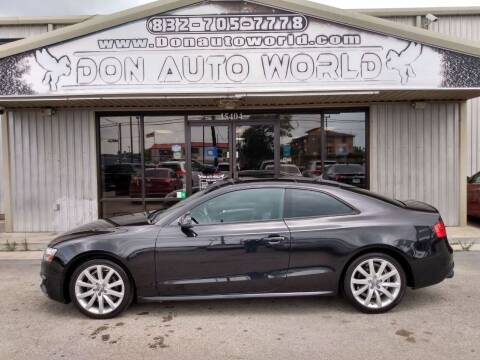 2013 Audi A5 for sale at Don Auto World in Houston TX