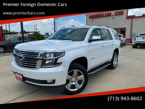 2016 Chevrolet Tahoe for sale at Premier Foreign Domestic Cars in Houston TX