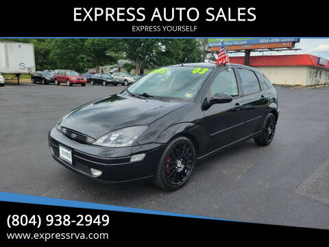 2003 Ford Focus SVT for sale at EXPRESS AUTO SALES in Midlothian VA