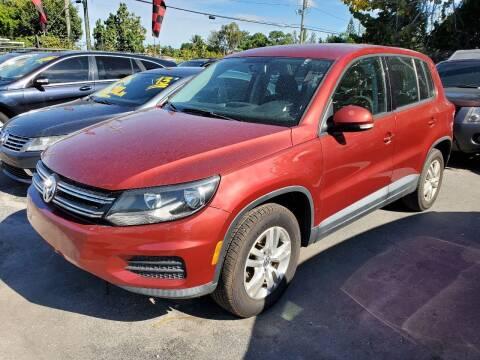 2013 Volkswagen Tiguan for sale at America Auto Wholesale Inc in Miami FL