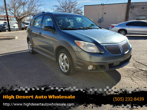 2007 Pontiac Vibe for sale at High Desert Auto Wholesale in Albuquerque NM