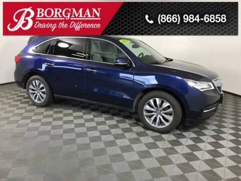 2015 Acura MDX for sale at BORGMAN OF HOLLAND LLC in Holland MI
