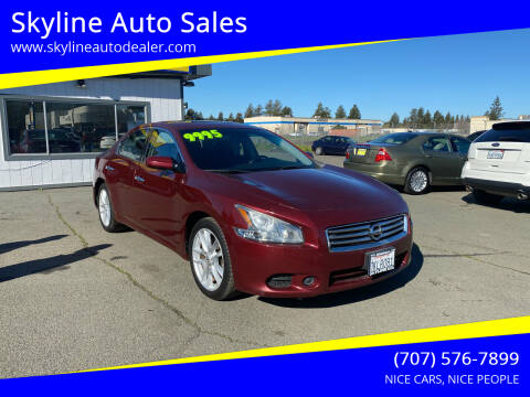 2013 Nissan Maxima for sale at Skyline Auto Sales in Santa Rosa CA