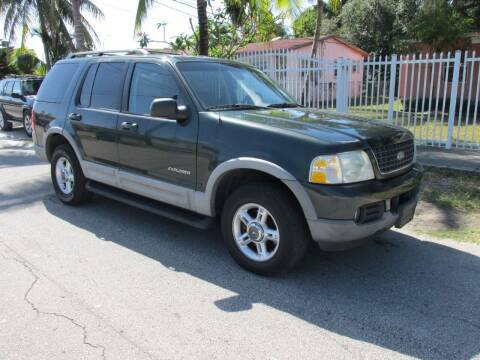 2002 Ford Explorer for sale at TROPICAL MOTOR CARS INC in Miami FL
