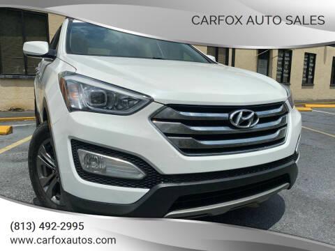 2014 Hyundai Santa Fe Sport for sale at Carfox Auto Sales in Tampa FL