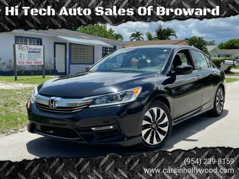 2017 Honda Accord Hybrid for sale at Hi Tech Auto Sales Of Broward in Hollywood FL
