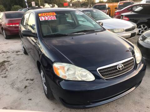 2008 Toyota Corolla for sale at SKYLINE AUTO SALES LLC in Winter Haven FL
