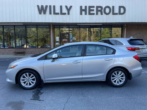 2012 Honda Civic for sale at Willy Herold Automotive in Columbus GA