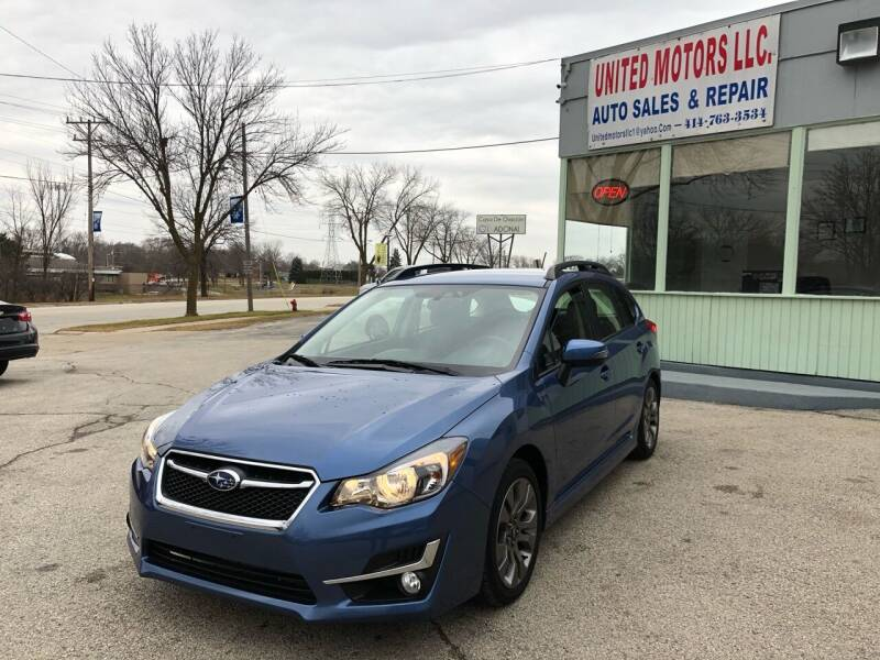 2016 Subaru Impreza for sale at United Motors LLC in Saint Francis WI