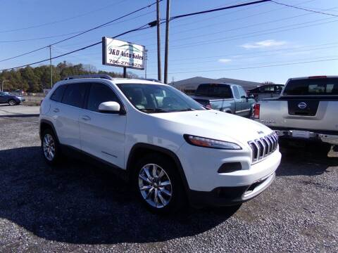 2016 Jeep Cherokee for sale at J & D Auto Sales in Dalton GA