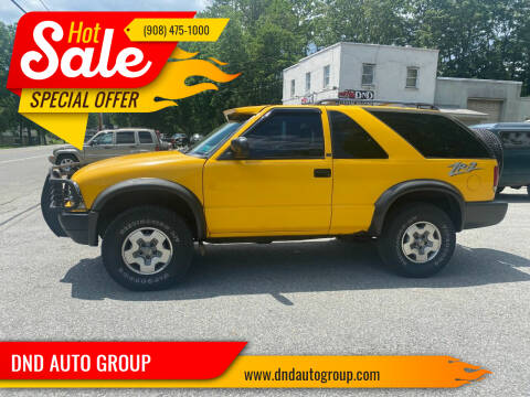 2002 Chevrolet Blazer for sale at DND AUTO GROUP in Belvidere NJ