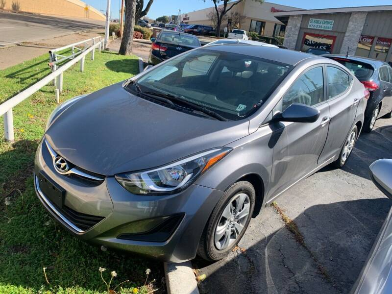 2016 Hyundai Elantra for sale at New Start Auto in Richardson TX