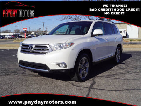 2012 Toyota Highlander for sale at Payday Motors in Wichita And Topeka KS