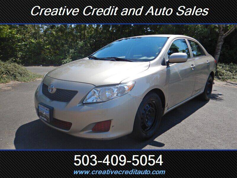 2009 Toyota Corolla for sale at Creative Credit & Auto Sales in Salem OR
