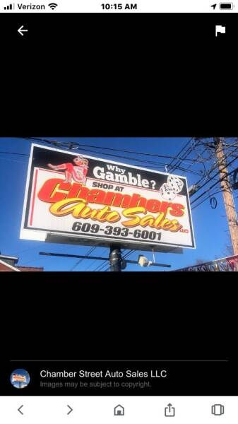 We Are Open For  Business  for sale at Chambers Auto Sales LLC in Trenton NJ