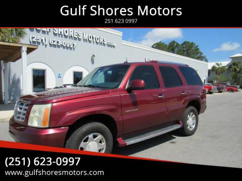 2003 Cadillac Escalade for sale at Gulf Shores Motors in Gulf Shores AL