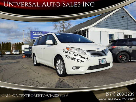 2013 Toyota Sienna for sale at Universal Auto Sales Inc in Salem OR