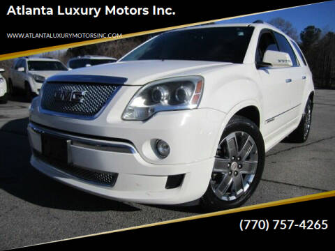 2011 GMC Acadia for sale at Atlanta Luxury Motors Inc. in Buford GA