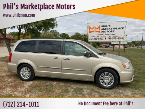 2012 Chrysler Town and Country for sale at Phil's Marketplace Motors in Arnolds Park IA