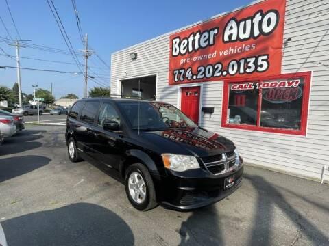 2012 Dodge Grand Caravan for sale at Better Auto in Dartmouth MA