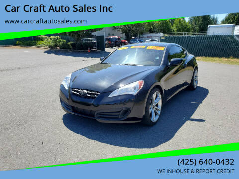2012 Hyundai Genesis Coupe for sale at Car Craft Auto Sales Inc in Lynnwood WA