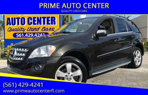 2010 Mercedes-Benz M-Class for sale at PRIME AUTO CENTER in Palm Springs FL