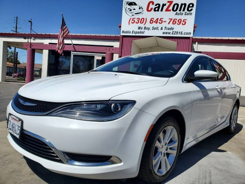 2015 Chrysler 200 for sale at CarZone in Marysville CA