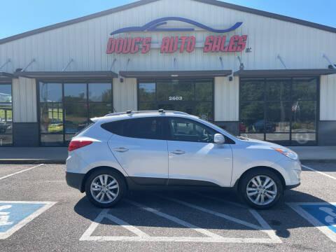 2012 Hyundai Tucson for sale at DOUG'S AUTO SALES INC in Pleasant View TN