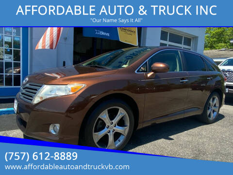 2010 Toyota Venza for sale at AFFORDABLE AUTO & TRUCK INC in Virginia Beach VA