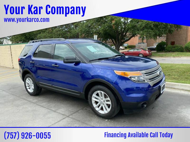 2013 Ford Explorer for sale at Your Kar Company in Norfolk VA