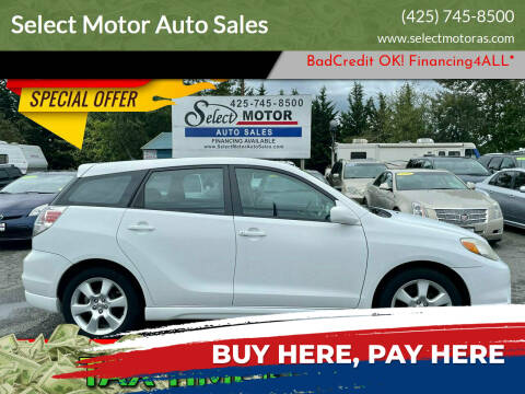 2007 Toyota Matrix for sale at Select Motor Auto Sales in Lynnwood WA