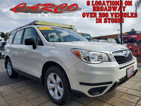 2016 Subaru Forester for sale at CARCO SALES & FINANCE in Chula Vista CA