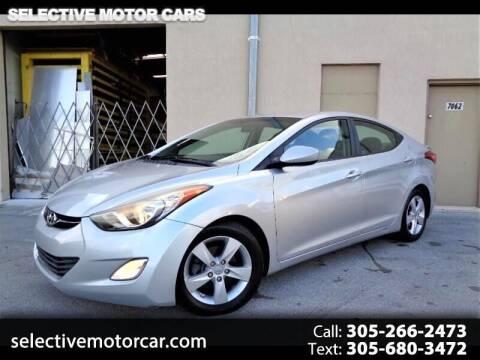 2013 Hyundai Elantra for sale at Selective Motor Cars in Miami FL