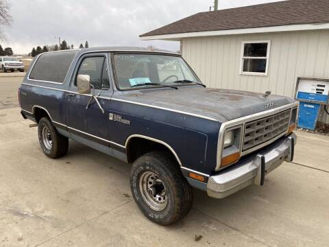 1984 Dodge Ramcharger for sale at B & B Auto Sales in Brookings SD