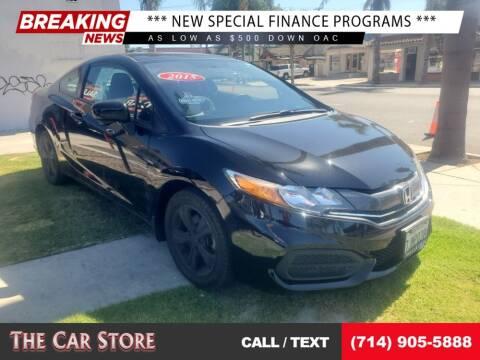 2015 Honda Civic for sale at The Car Store in Santa Ana CA