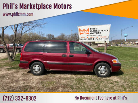 2004 Chevrolet Venture for sale at Phil's Marketplace Motors in Arnolds Park IA