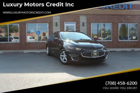 2018 Chevrolet Malibu for sale at Luxury Motors Credit Inc in Bridgeview IL