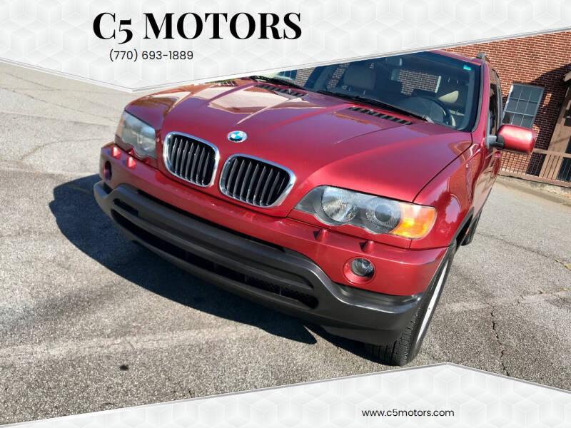 2003 BMW X5 for sale at C5 Motors in Marietta GA