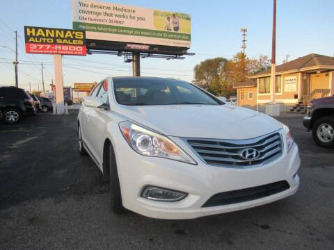 2014 Hyundai Azera for sale at Hanna's Auto Sales in Indianapolis IN