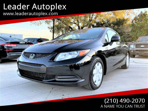 2012 Honda Civic for sale at Leader Autoplex in San Antonio TX