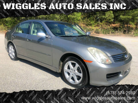 2004 Infiniti G35 for sale at WIGGLES AUTO SALES INC in Mableton GA