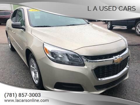 2015 Chevrolet Malibu for sale at L A Used Cars in Abington MA