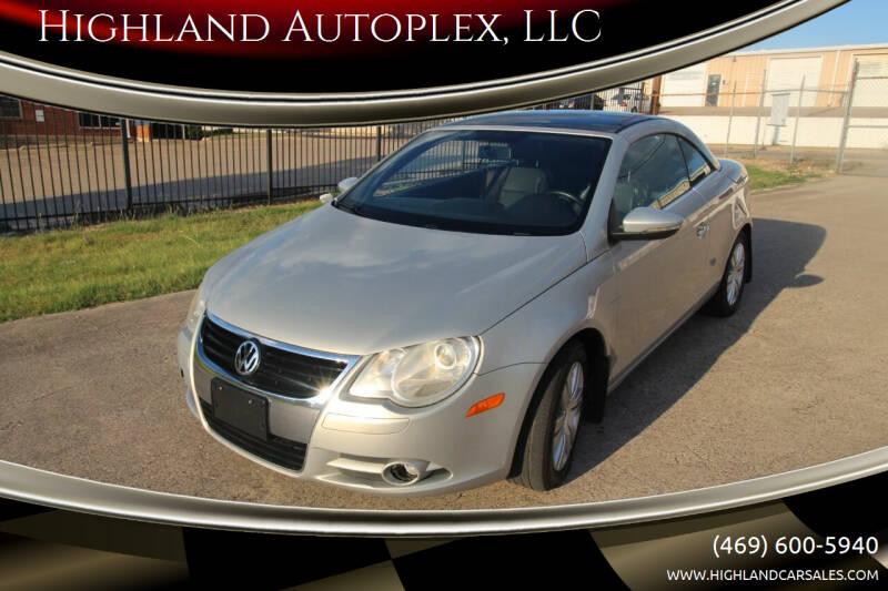 2010 Volkswagen Eos for sale at Highland Autoplex, LLC in Dallas TX