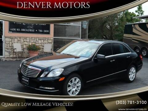 2013 Mercedes-Benz E-Class for sale at DENVER MOTORS in Englewood CO
