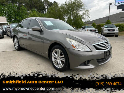 2012 Infiniti G37 Sedan for sale at Smithfield Auto Center LLC in Smithfield NC